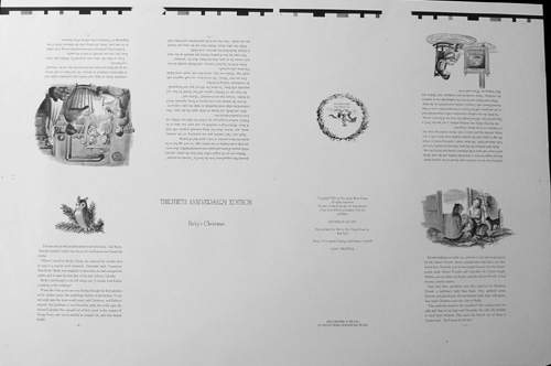BECKY'S CHRISTMAS [proof sheet, 1/2 of 1st signature black and white images]; 8 pages /Proof Sheet. Tasha Tudor.