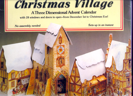 CHRISTMAS VILLAGE; : A Three Dimensional Advent Calendar with 24 Windows and Door to Open From December 1st to Christmas Eve! Tasha Tudor.