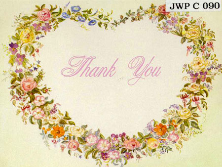 JWP CO 90 HEART THANK YOU CARD (blank inside)