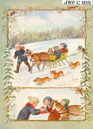 """JWP CO 25 SLEIGH RIDE """"May your holiday be filled with never ending joy."""""""