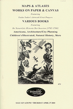 MAPS & ATLASES WORKS ON PAPER & CANVAS... Sale 163, APRIL 27, 2000. Waverly Auctions.