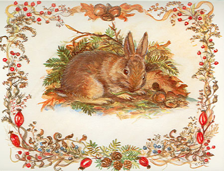 Holiday Cards, no. 13715: Tasha's Rabbit. National Wildlife Federation.