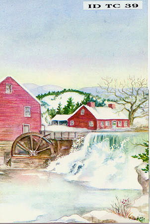 "ID TC 39 POSTAL CARD ""The Old Mill"""