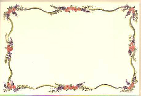 WISTERIA BORDER NOTE CARDS