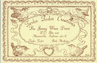 TASHA TUDOR CREATIONS JENNY WREN PRESS Business Card. Tasha Tudor.