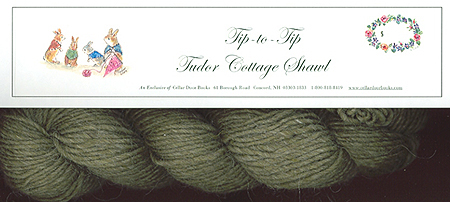 """""""TIP-TO-TIP"""" A TUDOR COTTAGE SHAWL KIT; : an exclusive of Cellar Door Books!"""