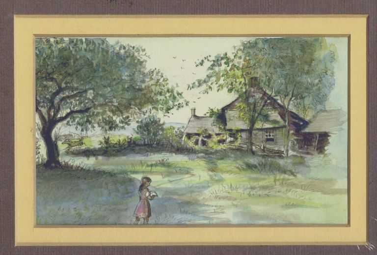 """""""Then She Walked Slowly Through the High Grass..."""" ORIGINAL ART FROM CARRIE'S GIFT"""