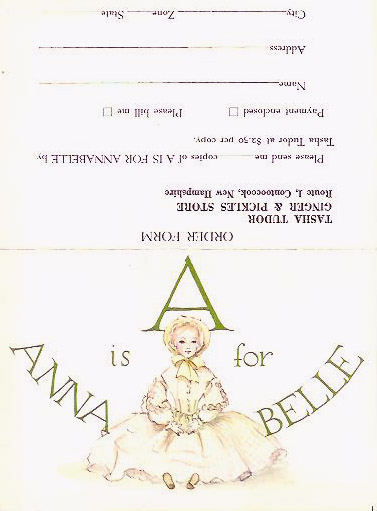 IS FOR ANNABELLE ADVERTISING SHEET