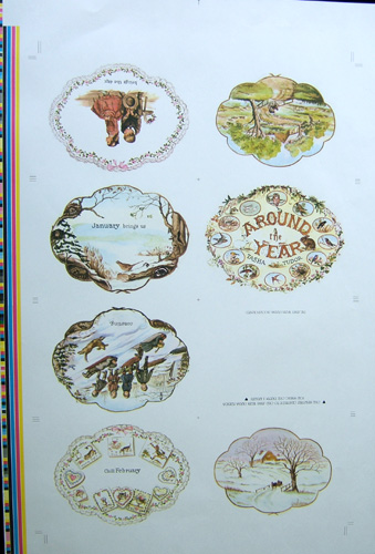 "AROUND THE YEAR [proof sheet] ""...brings the day.""; 16 pages Proof Sheet. Tasha Tudor."
