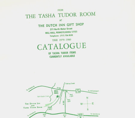 FROM THE TASHA TUDOR ROOM AT THE DUTCH INN GIFT SHOP . . . THE 1979-1980 CATALOGUE OF TASHA TUDOR ITEMS CURRENTLY AVAILABLE