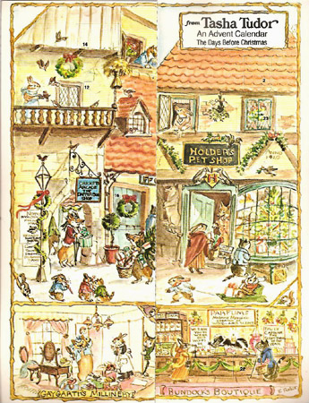 FROM TASHA TUDOR AN ADVENT CALENDAR THE DAYS BEFORE CHRISTMAS. Tasha Tudor.