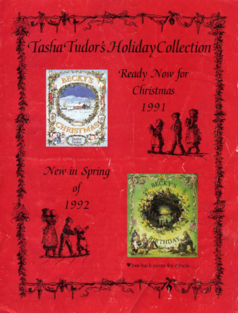 TASHA TUDOR'S HOLIDAY COLLECTION; Ready Now for Christmas 1991