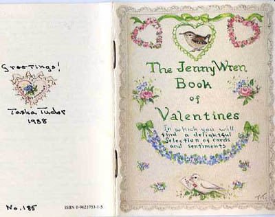The JENNY WREN BOOK OF VALENTINES. Tasha Tudor.