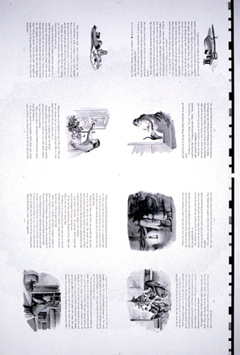 BECKY'S CHRISTMAS, pp. 17-32 [proof sheet, black and white]; 8 pages Proof Sheet. Tasha Tudor.