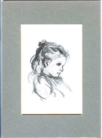 FROM TASHA TUDOR'S SKETCHBOOK: STUDY OF EFNER AS A YOUNG GIRL. Tasha Tudor.