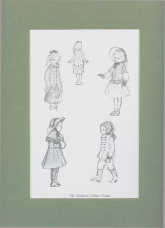FROM TASHA TUDOR'S SKETCHBOOK: MY CHILDREN'S CLOTHES I MADE. Tasha Tudor.