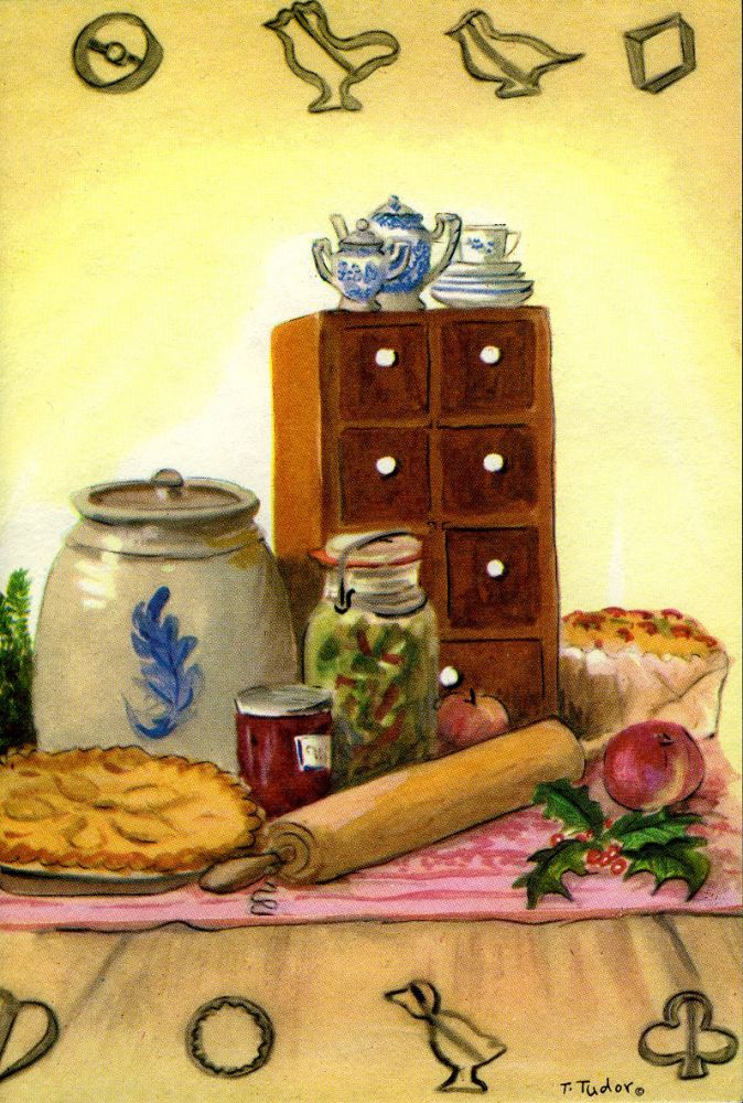 "ID PT 21 CHRISTMAS CARD ""SPICE CHEST AND FOOD"" (out of print)"