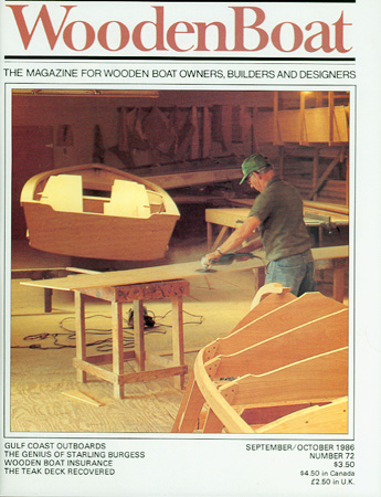 WOODEN BOAT. No. 72, Sep/Oct 1986