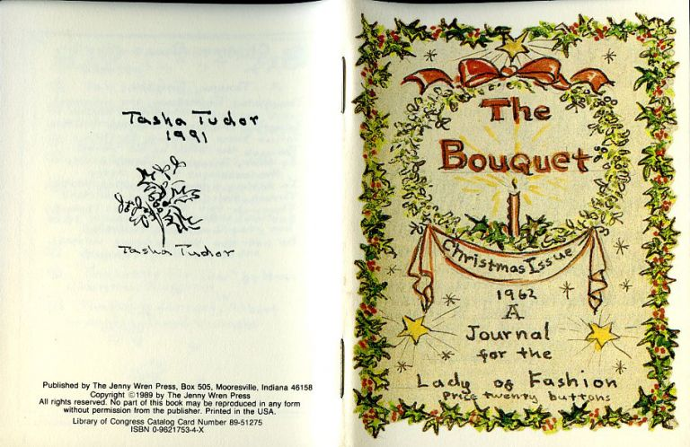 The BOUQUET; CHRISTMAS ISSUE 1962. A JOURNAL FOR THE LADY OF FASHION. Tasha Tudor.
