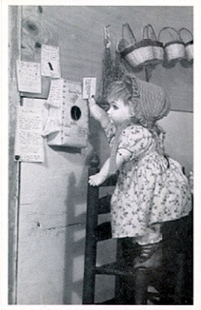 TT OFD 1 TASHA TUDOR'S OLD-FASHIONED DOLLS. 1. POSTING A LETTER BY SPARROW POST. Tasha Tudor.