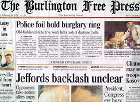 The BURLINGTON FREE PRESS 172:45 (Feb. 14, 1999)