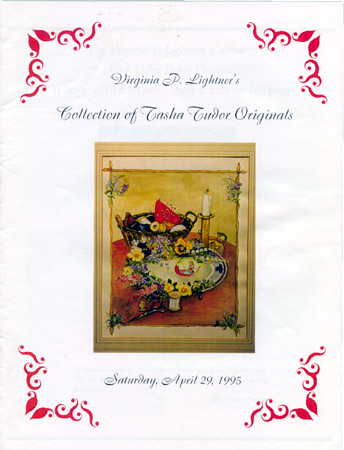VIRGINIA P. LIGHTNER'S COLLECTION OF TASHA TUDOR ORIGINALS, SATURDAY, APRIL 29, 1995. John Lightner.
