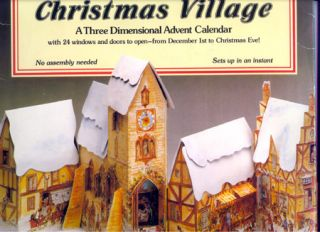 CHRISTMAS VILLAGE; : A Three Dimensional Advent Calendar with 24 Windows and Door to Open From...