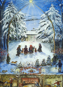 OH HOLY NIGHT [Advent calendar]. Tasha Tudor