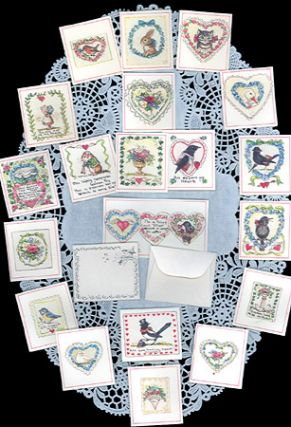 JWP CO 02 VALENTINE SET; (set of 20 miniature cards with tiny envelopes