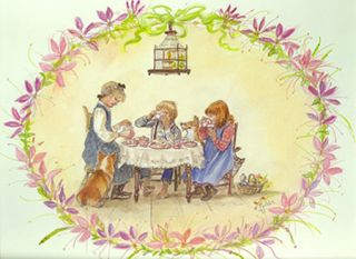 JWP PO 39S AFTERNOON TEA. Tasha Tudor.