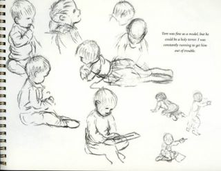 The TASHA TUDOR SKETCHBOOK SERIES FAMILY AND FRIENDS; Selected drawings from the Personal sketchbooks of Tasha Tudor