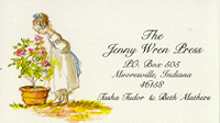 JENNY WREN PRESS BUSINESS CARD