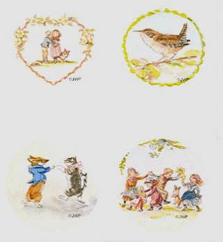 TASHA TUDOR ASSORTED STICKERS JWP SO 35