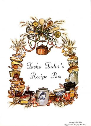 TASHA'S RECIPE BOX LABEL. Tasha Tudor
