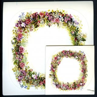 SUMMER WREATH STICKERS; - TWO SIZES