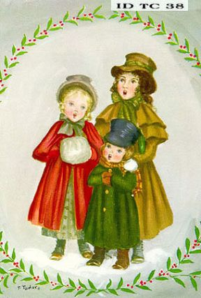 "ID TC 38B POSTAL CARD ""Christmas Carolers"""