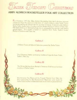 TASHA TUDOR'S CHRISTMAS; : ABBY ALDRICH ROCKEFELLER FOLK ART COLLECTION