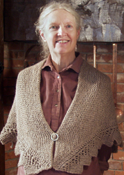 """TIP-TO-TIP"" A TUDOR COTTAGE SHAWL; : an exclusive of Cellar Door Books!"