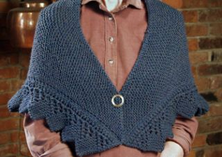 """TIP-TO-TIP"" A TUDOR COTTAGE SHAWL [Ready to wear]; : an exclusive of Cellar Door Books!"