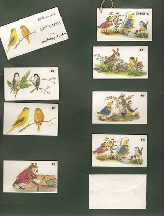 CDB BT 04-17 COLLECTION 2004 BY BETHANY TUDOR; -Gift Enclosure Cards w/ tiny envelopes. Bethany...