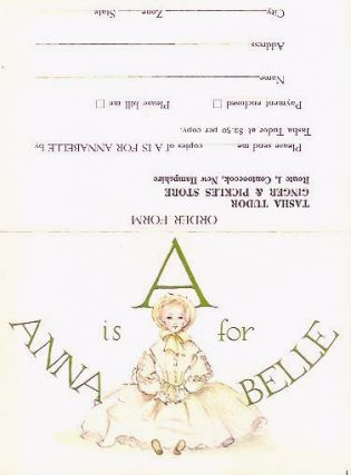 A IS FOR ANNABELLE ADVERTISING SHEET