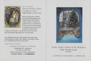 TASHA TUDOR'S SPIRIT OF THE HOLIDAYS, EXHIBITION INVITATION