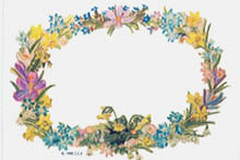 FLORAL OVAL STICKER