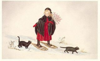 LAURA IN THE SNOW. Tasha Tudor