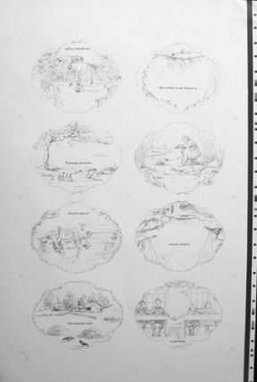 """AROUND THE YEAR [proof sheet] """"...the hope of Spring.""""; 16 pages Proof Sheet"""