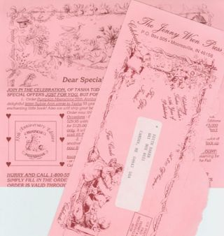 DEAR SPECIAL FRIENDS, ORDER FORM, Spring, 1993 FROM THE JENNY WREN PRESS