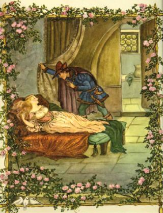 TASHA TUDOR FAIRY TALES, SLEEPING BEAUTY - COLOR PRINT