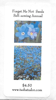 TASHA TUDOR'S FORGET ME NOT SEEDS, Self-sowing Annual