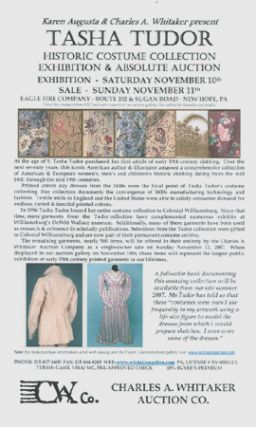 KAREN AUGUSTA & CHARLES A. WHITAKER PRESENT TASHA TUDOR HISTORIC COSTUME COLLECTION EXHIBITION &...
