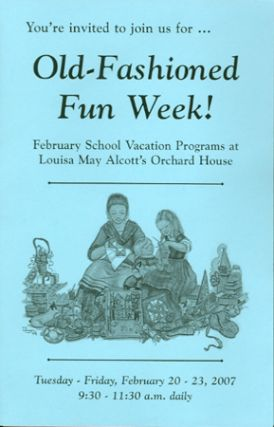 YOU'RE INVITED TO JOIN US FOR ... OLD-FASHIONED FUN WEEK!; February School Vacation Programs at...